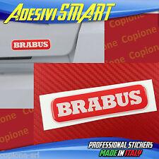 1 Adesivo Resinato Sticker 3D BRABUS Smart Rosso & Bianco sportello posteriore
