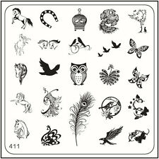 MoYou Nail Fashion Square Image Plate 411 Trendy Style Art Stamping Template