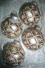 Christbaumkugeln Weihnachtskugeln Christbaumschmuck  Lauscha braun gold silber