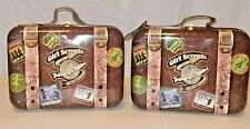 Lot of 2 Girl Scouts 100th Anniversary Tin Suitcase Keepsake Collectors Box