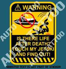 JET SKI JETSKI WARNING DECAL STICKER WAVERUNNER SEADOO YAMAHA DECALS STICKERS