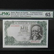 Spain 1971 (ND 1974) 1000 Pesetas, Pick # 154, PMG 65 EPQ Gem Unc