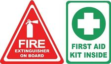 "2.5"" Fire Extinguisher First Aid Decals Stickers Labels Truck Off road safety"