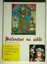 BOOK Traditional Polish Folk Painting on Glass POLAND peasant art regional icon