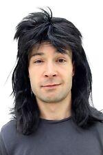 Perücke Fasching Proll Assi Schwarz Vokuhila halblang Männer Wig 20781-P103 NEU