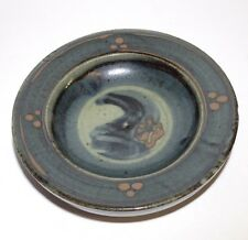 David Frith Brookhouse Studio Pottery Bowl / Dish With Original Label + Mark
