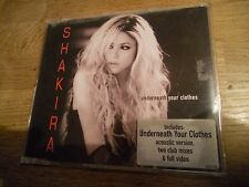 SHAKIRA UNDERNEATH YOUR CLOTHES 5 TRACKS CD SINGLE EPIC RECORDS 2002 CD EXTRA***