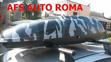 BOX AUTO PORTAPACCHI GRAFICA MIMETICO CAMOU HELIOS 400 G3 OMOLOGATO