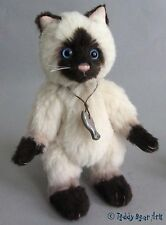 Charlie Bears CLAWS - MINIMO SIAMESE CAT, Alpaca MM655516 - Ref 368