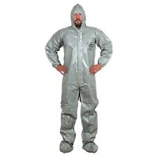 TYCHEM CPF 2 GRAY COVERALLS HAZMAT PROTECTIVE SUIT DUPONT 2XL