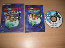 PC CD ROM gusanos mundo Fiesta Lanzamiento con Manual Original-Envío rápido