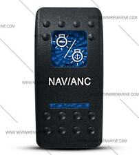 Labeled Contura II Rocker Switch Cover ONLY, Nav/Anc (2 Blue Windows)