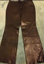 NWT Harley Davidson Leather Embroidered Pants. Overlayed 4 Riding Motorcycle 32