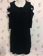MADE FOR ME TO LOOK AMAZING Womens Black Open Sleeve Sweater Dress Juniors L