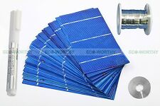 DIY 80W Solar Panel- 40pcs 3x6 Solar Cell Cells Kit W/ Tabbing Bus Wire Flux Pen