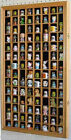 100 Thimble Display Case Cabinet Thimbles Holder Rack, Glass door, Solid Wood