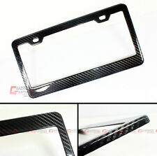 100% REAL 3K BLACK WEAVEN CARBON FIBER USA CAR VEHICLE LICENSE PLATE FRAME COVER