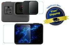 Screen Protector Film LCD Cover GoPro Hero 5 Tempered Glass Camera  Lens Cap NEW