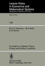Foundations of System Theory: Finitary and Infinitary Conditions (Lecture Notes