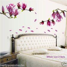 Wandaufkleber Wandtattoo Magnolie Blumen Magnolia  Wand sticker Wohnzimmer Deco