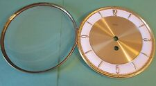 """1 New/Old Stock Pressed Solid Brass Heco Brand Clock Dial & Domed Glass  6 1/4"""""""