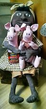Primitive Black mammy doll with pigs