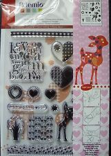 Artemio Clear Stamps Set, Bambi, Deer, Love Hearts. 10001269, new, 19 stamps