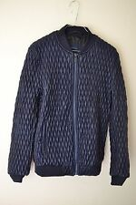 ZARA MAN AW15 BLUE QUILTED BOMBER JACKET MEDIUM REF. 0706/304