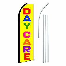 DAYCARE Advertising Feather Flutter Swooper 2.5' Banner Flag and Pole Only