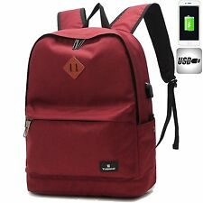 LINGTOM Casual Fashion Backpack for School Travel Laptop Bags with USB Charging