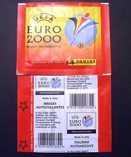 BUSTINA PACKET SOBRE PANINI UEFA EURO 2000 ED. 2 STELLE/STARS A SINISTRA/LEFT