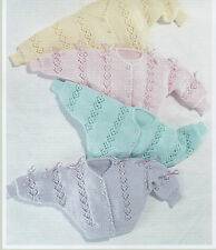 Baby Knitting Patterns Dk Cardigans 14 TO 24 INCH CHEST  #75