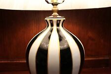 Unique Black and White Stripe Porcelain Table Lamp 25""