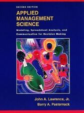 Applied Management Science : Modeling, Spreadsheet Analysis, and...