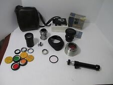 Lot Vtg Camera Accessories Lens Flash Kodak Wratten V Filter Dresden Tube Pentax
