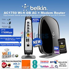 Belkin AC1750 Dual-Band Modem Router Gigabit for Phoneline Connections 1750Mbps