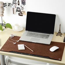 Home Office Computer Desk Pad Large Brown Keyboard Mouse Mat Freeze-proofing