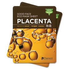 Pascucci Good Face Eco Mask Sheet PLACENTA Korean Facial Skin Care Pack 7 PCS