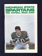 Michigan State Spartans 1984 College Football Media Guide with Jim Morrissey