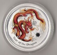 2012 Dragon AUSTRALIAN LUNAR YEAR OF THE Dragon 20 X 1 oz. SILVER COIN COLO