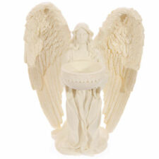 Kneeling Angel Figurine Tea Light Holder Votive Candle 17cm High