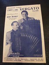 Partition Vergato Duo Nicoli Music Sheet