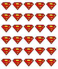 Superman Logo Cupcake Toppers Birthdays Edible Wafer Paper BUY 2 GET 3RD FREE!
