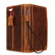 Genuine vintage leather Case fit apple iphone 6s plus book wallet cover 6 s + IL