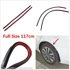 "Flexible 46"" Long 1.2"" Wide Body Fender Flare Arch Extension Black Rubber Strips"