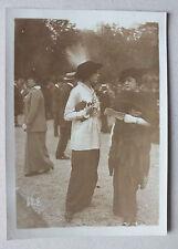 ANCIENNE PHOTOGRAPHIE - PRESSE MONDAINE - MONDIAL PHOTO ? CHAMP DE COURSE 1913 *
