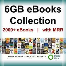 eBooks Package Collection 6GB | with Master Resell Right PDF Format+free shiping
