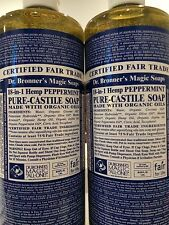 Dr. Bronner's Magic Soaps: Pure Castile Soap,18-in-1 Hemp Peppermint, 80 fl oz