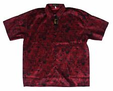 Mens Thai Silk Shirt From Bangkok Thailand - New Design Around Thailand XL  5570