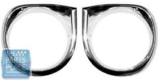 1962-64 Chevrolet Nova / Chevy II Headlamp / Light Bezels - Pair